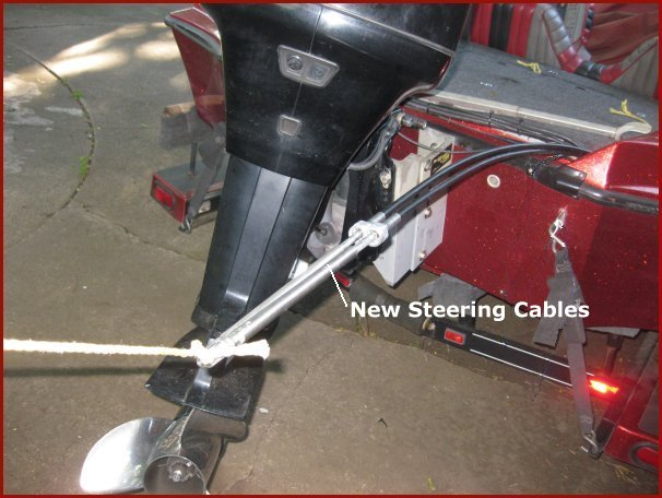 Replacing my boat's steering system